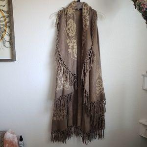 Long Knitted Vest